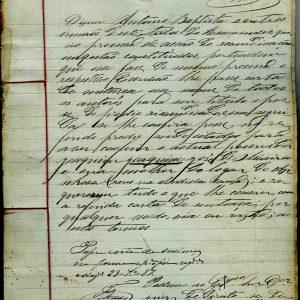Carta de Sentença civil requerida por António dos Santos Batista, 1887, 32 folhas, Remondese contribuição municipal de 1886