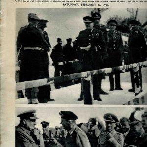 The Illustrated, London, Saturday, february 13, de 1943. ( danos de roedores sem prejudicar a leitura)