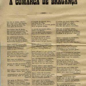 A Comarca de Bragança, com selo de D. Carlos, dirigida ao Cónego da Sé José d`Oliveira, 1908