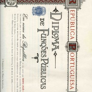 Diploma de Funções Públicas de Olímpio Julião Serra, 1965