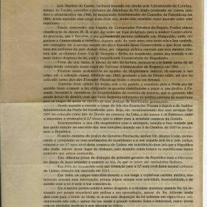 Protesto dirigido ao Sr. Ministro da Justiça por João Batista de Castro, advogado, natural da Eucísia, 1916, 4 pág
