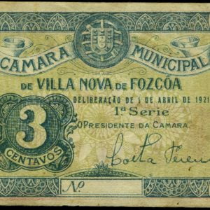 Cédula de 3 centavos, ( Vila Nova de Foz Côa)