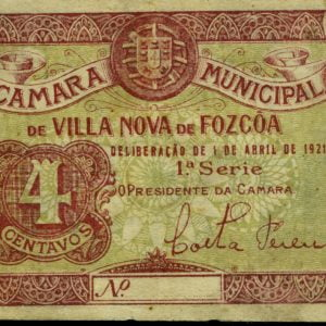 Cédula de 4 centavos, ( Vila Nova de Foz Côa)