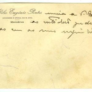 Cartão de Abílio Eugénio Pontes