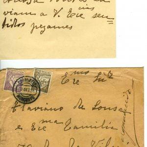 Cartão de Visita de Abílio Eugénio Pontes, 1936