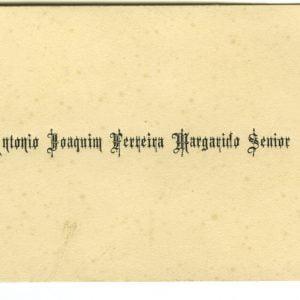 Cartão de Visita de António Joaquim Ferreira Margarido Senior