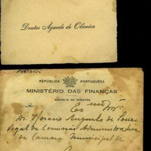 Cartão de Visita de Doutor Àguedo de Oliveira