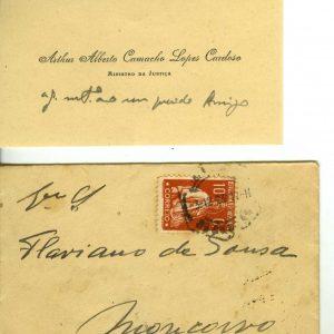 Cartão de Visita de Dr. Arthur Alberto Camacho Lopes  Cardoso