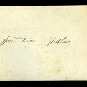 Cartão de Visita do Dr. João José Dias Gallas