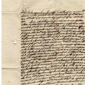 Carta de Bernardo José de Sousa para padre Manoel Nunes dos Santos , de 1846, Paredes da Beira, pelo Correio de Moimenta da Beira