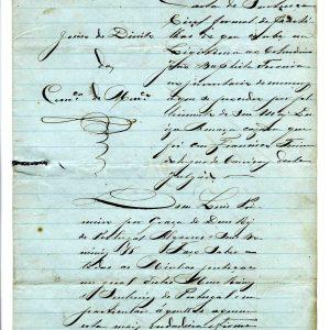 Carta de Sentença, João Baphista Ferreira, 1887, 4 folhas