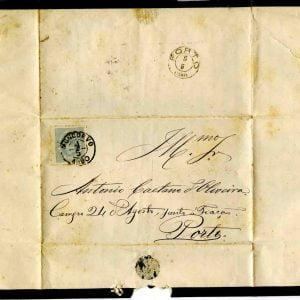 Carta selada endereçada a António Caetano de Oliveira, 1880 ( Muito importante)