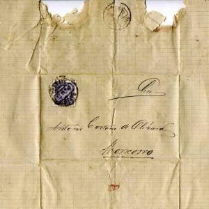 Carta selada endereçada a António Caetano de Oliveira, Moncorvo