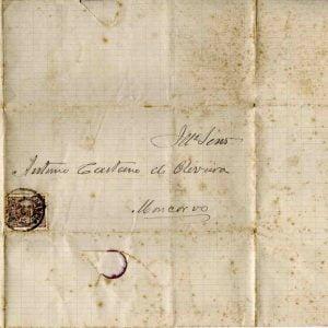 Carta selada endereçada a António Caetano de Oliveira, Rei D. Luís