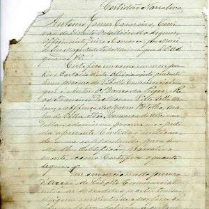 Certidão Narrativa, Francisco Morais Pinto Leite,1882, 4 folhas