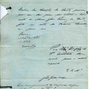 Certidão de testamento de Bárbara da Conceição, Souto, 1875, 4 folhas