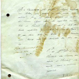 Descrição dos Bens do Tombo da Ribeira da Vilariça, requerimento, 1876, 12 folhas
