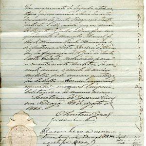 Inspeção de mancebo, 1888, 1 folha