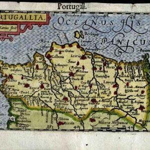 Mapa de Portugal 1602- Petrius.
