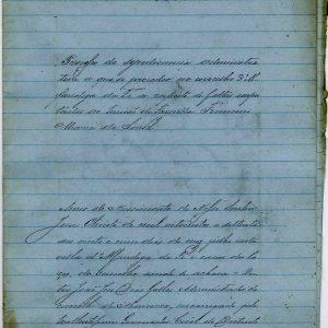 Processo de Sindicância Administrativa  a respeitto de faltas imputadas ao servidão da Fazenda Francisco Maria de Sousa 1870,  10 folhas