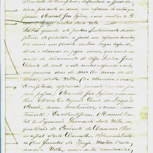Traslado de Escritura a juros de 5 por cento de Manoel José Izidoro e sua mulher do Peredo à Igreja Matriz de Moncorvo