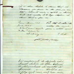 Traslado de Testamento de Roza Angelina de Moraes Leal, 1885, 6 folhas
