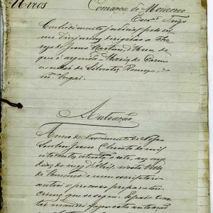 autoação de crime de Injírias dirigidas a Thereza de Jesus Martins, 1887, 12 folhas