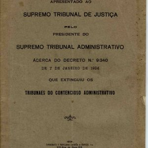 A Petição de Recurso, 1924, 20 pág