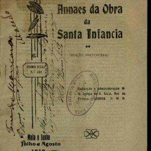 annaes sa Obra da Sanra Infancia, 1919